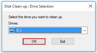 chọn một ổ đĩa từ menu thả xuống