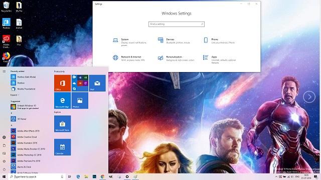 Chủ đề Windows 10 Avengers Endgame