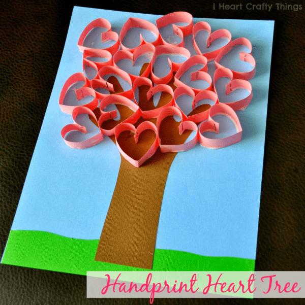 Thiệp Valentine tự làm dễ dàng với tạo hình cây trái tim