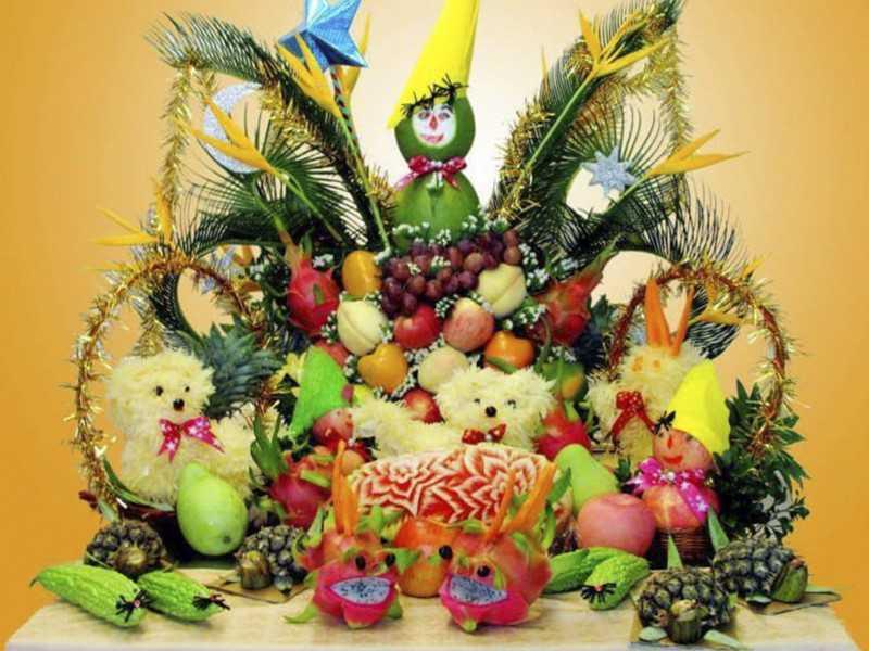 Mâm cỗ hoa quả cực đẹp cho Tết Trung Thu nhà bạn