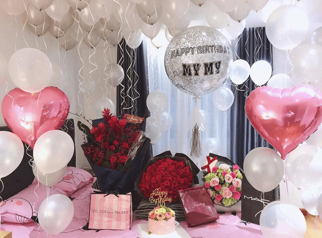 Trang trí không gian lãng mạn cho nàng với nhiều bóng bay ngày Valentine