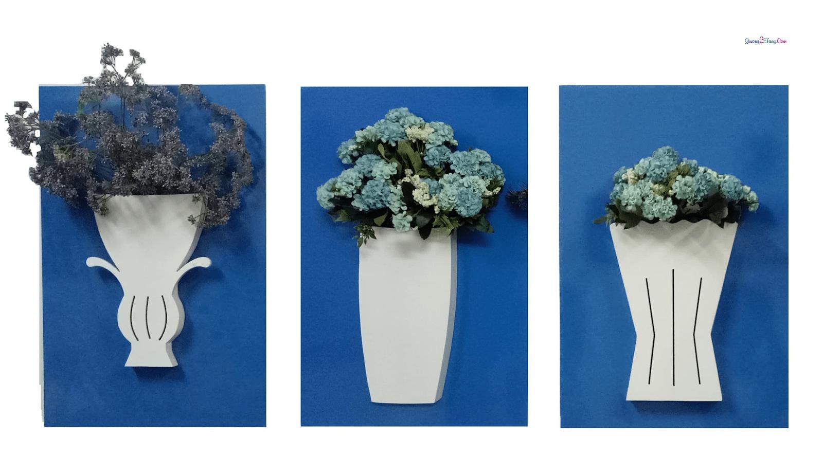 Sáng tạo với cách cắm hoa làm tranh treo tường