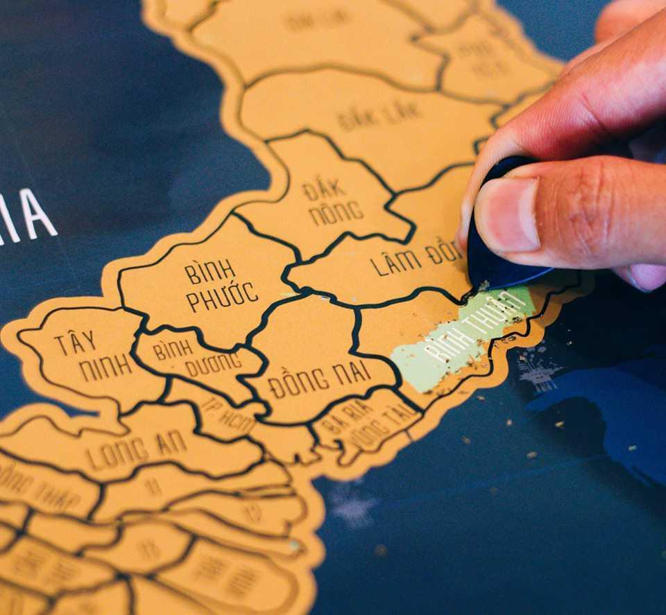 Quà tặng 14 2 cho người yêu bộ đội là bản đồ Việt Nam