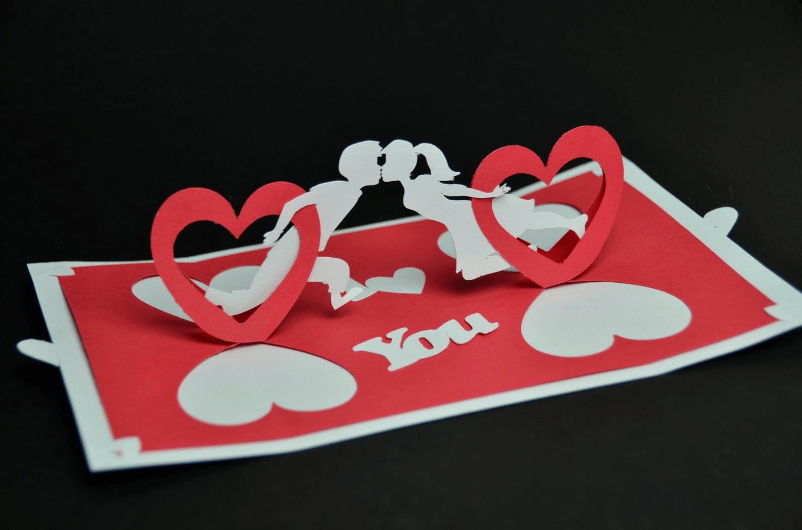 Thiệp Valentine dạng pop-up dễ thương