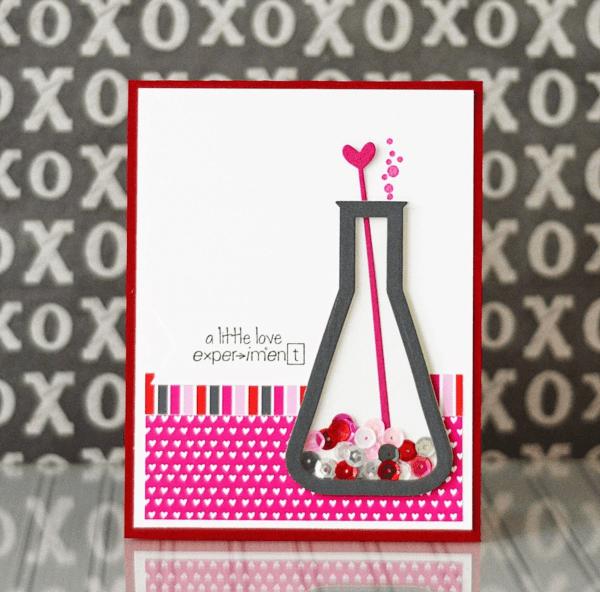 Trang trí tấm thiệp Valentine gửi người yêu hình lọ thuốc