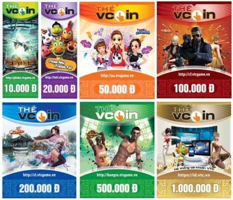 Thẻ Vcoin của VTC game