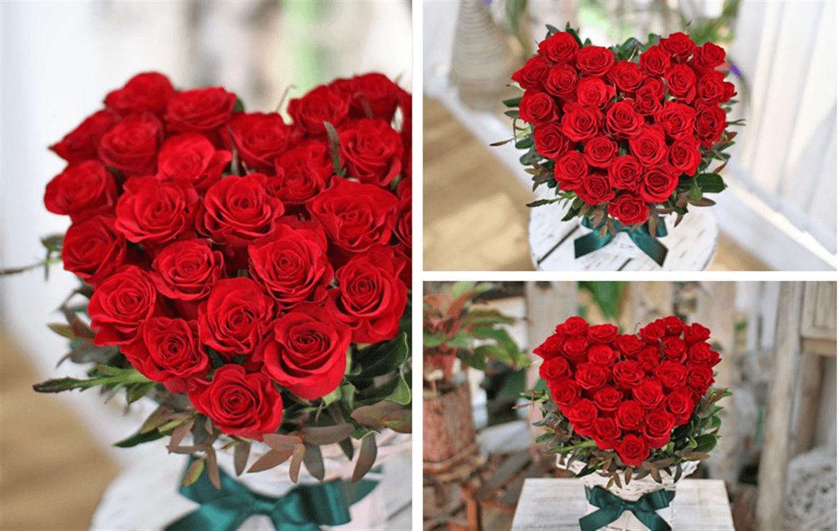 Cách cắm hoa trái tim đơn giản cho bạn nam