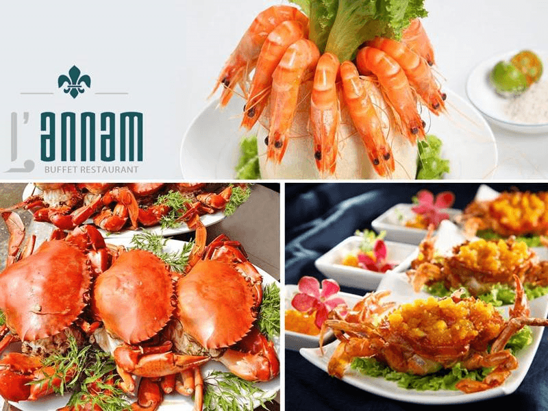 L'annam có đủ các loại hải sản tươi ngon hảo hạng